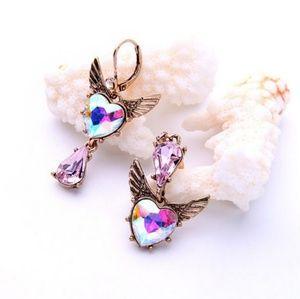 Gorgeous🌈 Heart & Angel Wing Earrings
